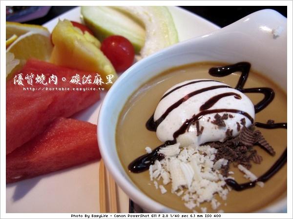 碳佐麻里燒肉。日本料理。咖啡布丁甜點