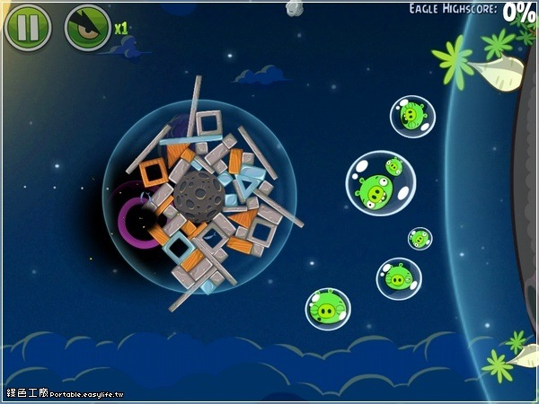 Angry Birds Space 憤怒鳥太空版!快上太空殺豬去!地心引力抓不住鳥?