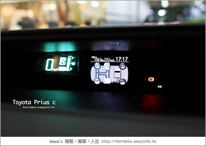 Toyota Prius c。節能減碳油電車