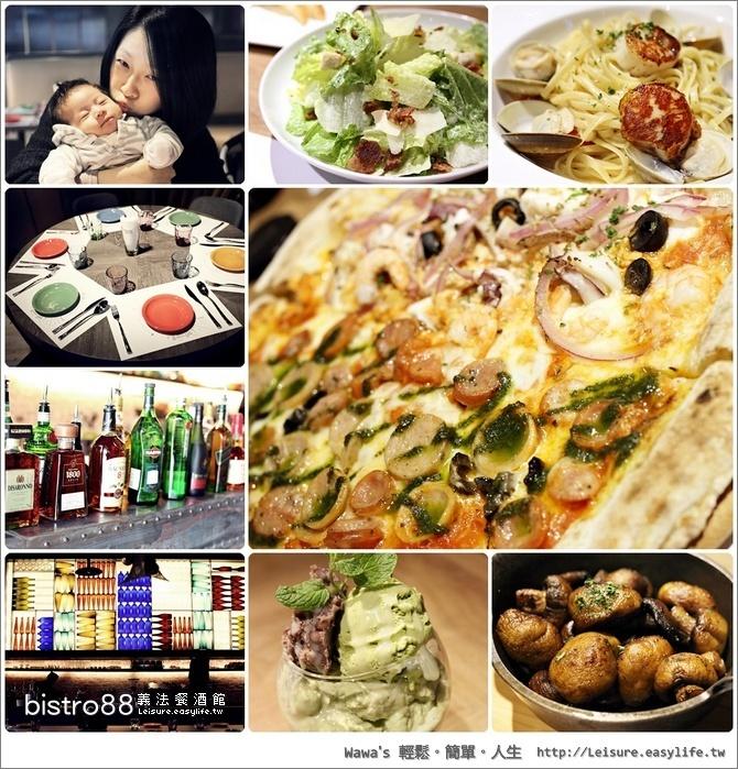 bistro88 義法餐酒館。台南小西門