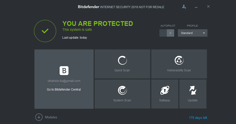 Bitdefender Internet Security giveaway 半年序號