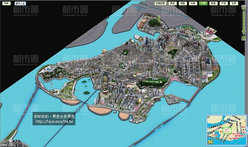 澳門半島地圖