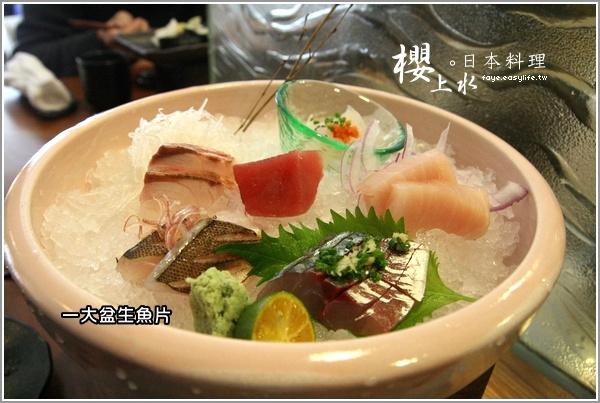 台北日料理櫻上水 880櫻花套餐生魚片
