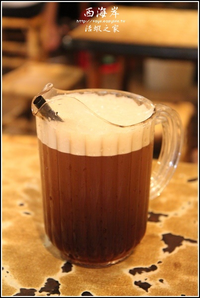 台南市中華北路【西海岸 活蝦之家】。紅茶