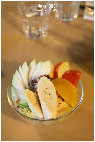 台南【栗子咖啡】。C餐沙拉