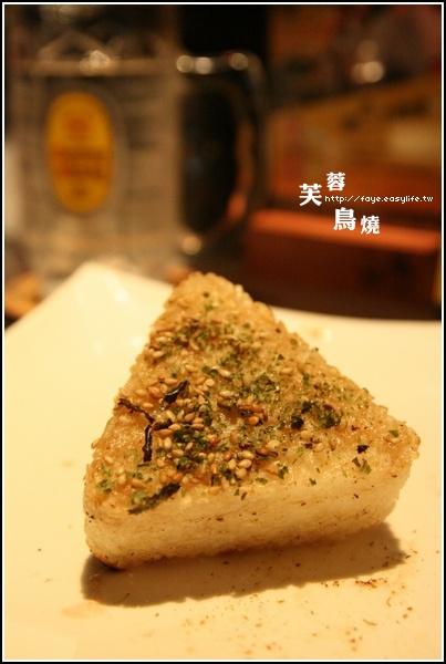 台南【芙蓉鳥燒】。烤飯糰